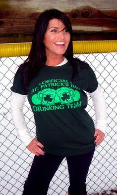 0431e764ec6869 Official St. Patrick s Day Drinking Team T-Shirt Retro Funny Irish Brew  Beer Bar