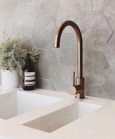 Bathroom interior Nail Desing i nail designs Copper Taps Kitchen, Espresso Kitchen Cabinets, Copper Bathroom, Bathroom Taps, Bathroom Renos, Timber Kitchen, Bad Inspiration, Bathroom Inspiration, Bathroom Inspo