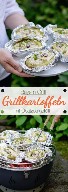 Bayern Grillt: Mit Obatzda gefüllte Grillkartoffeln