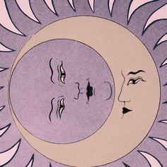 sun and moon illustration