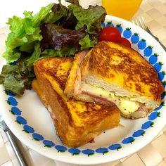 カナダ発モンティクリストサンドを、朝食につくってみました☺︎10分弱で作れちゃいます! - 67件のもぐもぐ - モンティクリストサンドウィッチ by kanaranran
