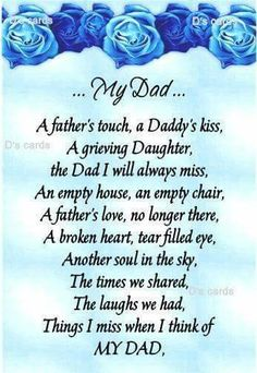 For Dads In loving memory/card/keepsake/Grave/dad/daddy/grandad ect fathers day birthday Miss My Daddy, Rip Daddy, Miss You Dad, Love You Dad, Tio Jesse, Grieving Daughter, Father Daughter, Daughter Quotes, Dad Poems