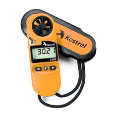 The Kestrel 3500 handheld Meter will enable you to monitor real time environmental changes. Measure wind speed, temperature, relative humidity, dew point and wet bulb temperature. Wet Bulb Temperature, Oregon Weather, Weather Instruments, Relative Humidity, Kestrel, Tv Videos, Skateboard, Yellow, Orange