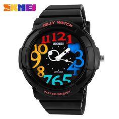 Skmei Unisex Fashion Quartz Watch Dive Swim 30m Waterproofed Sports Watch boys girl's Children's Watches Students Wristwatches