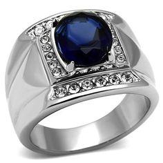 Impressive New Stainless Steel Men's Dark Sapphire Blue Oval Ring - Size 9 Doublebeez Jewelry,http://www.amazon.com/dp/B00FCNDXCM/ref=cm_sw_r_pi_dp_CO2gtb1ZC6SA67YH