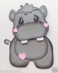 Baby Zoo Animal Hippo Paper Piecing by My Tear Bears Kira | eBay