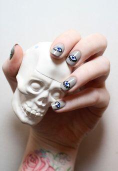 evil eye nail art