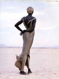 Model: Alek Wek in April 1999 Vogue Paris photographed by Herb Ritts