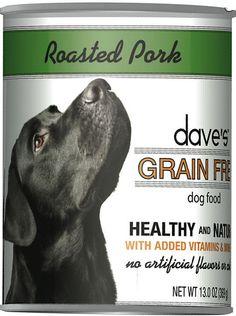 Dave's Pet Food Grain-Free Roasted Pork Dinner Canned Dog Food, 13-oz