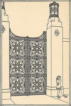More Bragdon. Superb drawings. Ornamental gate.