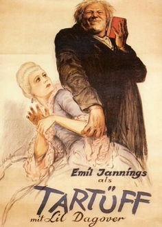 "Herr Tartüff [Tartuffe] - F. W. Murnau 1925 - DVD02495 -- ""Revisits Molière's fable of religious hypocrisy, in which a faithful wife tries to convince her husband that their morally superior houseguest is, in fact, a lecherous hypocrite with a taste for the grape."" #moliere"