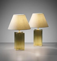 JEAN-MICHEL FRANK Pair of 'Croisillon' table lamps, from the Hotel Horizonte, Mar del Plata , circa 1940