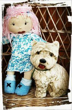 Muñeca Celeste con perrito