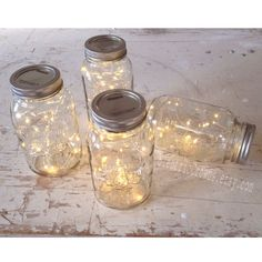 20 Led lights for Mason Jars. Barn wedding decor, Rustic wedding, Woodland wedding fairy lights for centerpieces  (Mason jar NOT included) by ElectricCrowns on Etsy https://www.etsy.com/listing/215361027/20-led-lights-for-mason-jars-barn