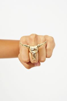 #Nastygal    Longhorn Ring    this ring makes me feel like I want to laugh hysterically and try to take over the world.