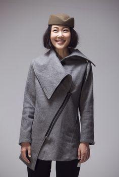 Zipper wrap coat AF201.  JulyS JS CUSTOM on etsy