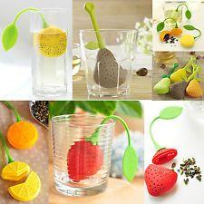 Adorable Strawberry Fruit Silicon Tea Leaf Filter Strainer Herbal Spice Infuser