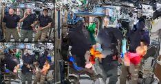 entrevista ao vivo com astronautas acaba de forma muito estranha