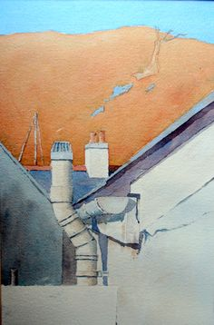 Between the Houses in Laxey - Peter Robinson Peter Robinson, Isle Of Man, My Arts, Houses, Paintings, Friends, Homes, Amigos, Paint