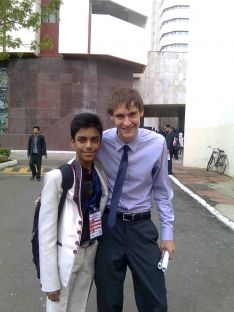 Sohail Shakil Shaikh-This is one of my best Uber life moment. In HMUN India (summit 2011)I met with people around the globe in WTC,Mumbai. This (Chris Coey-in blue shirt)is one of the delegate of UNO conference. I enjoyed chatting with them.