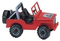 Bruder Off Road Vehicle - Red by Bruder Toys. $14.99. For ages 3 and above. Has a hood that opens up to expose engine. The Front Wheels actually turn, and the Wind Shield drops down. Bruder Off Road Vehicle - Red