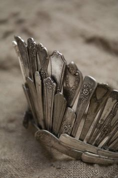 Oh look! A crown made of old silver flatware!
