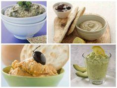 4 ντιπ για την παρέα Salad Bar, Greek Recipes, Finger Foods, Hummus, Dips, Salads, Bbq, Cooking Recipes, Ethnic Recipes