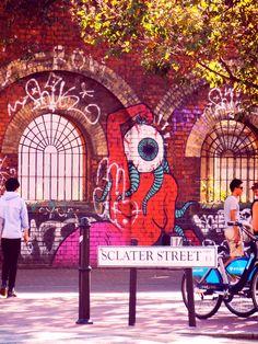 sclater street, east london. Graffiti