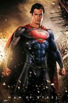 Superman : Man of Steel : Explosion - Maxi Poster 61cm x 91.5cm (new & sealed)
