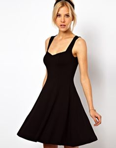 ASOS Sleeveless Skater Dress With Sweetheart Neck. Perfect summer party dress