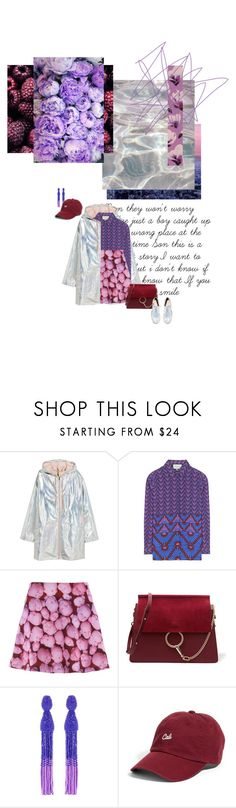 """""""#867"""" by joktojotta ❤ liked on Polyvore featuring Gucci, Chloé, Oscar de la Renta, American Needle, ASOS, holographic, cap, pattern and patternmixing"""