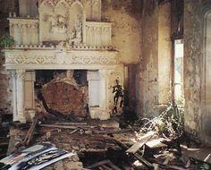 Inside the ruined Château de Bagnac