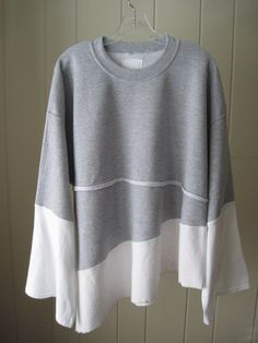 BoHo Chic winter top, layered cotton fabrics with white gypsy sleeves Great for nights by the fire and walks on the beach  Bust 54 to 58  Length