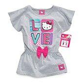 Hello Kitty Kids Shirt, Little Girls Glitter Graphic Flutter Tee
