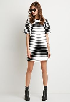 Striped T-Shirt Dress | Forever 21 - 2000173684