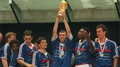 Zinedine Zidane raises the FIFA World Cup™ Trophy,France-Champion du Monde