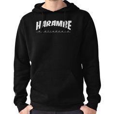 HARAMBE WHITE LOGO Hoodie (Pullover)