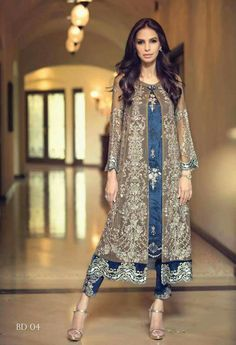 Today launched the latest Fancy Eid dresses 2017 for girls by Pakistani designers and collect Pakistani fancy dresses images to send wishes to your family Pakistani Couture, Pakistani Outfits, Indian Outfits, Eid Outfits, Pakistani Frocks, Pakistani Party Wear, Indian Anarkali, Wedding Outfits, Wedding Dress