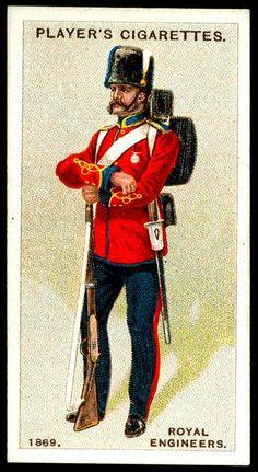 Cigarette Card - Royal Engineers, 1869