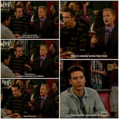Oh no! Ted's fallin for barney's words!!! #himym