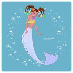 34 Likes, 0 Comments - Adelina Pelmuș Ocd, Sirens, Disney Characters, Fictional Characters, Mermaid, Journey, Fan Art, Disney Princess, Hashtags
