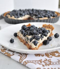 Blueberry Tart from My Whole Food Life. Made from just 7 simple, natural, nourishing ingredients, this tart is the perfect combination of delicious and healthy, and it makes for a great summer dessert! Vegan, gluten free and grain free.