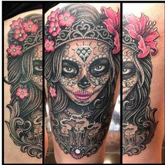 Day of the dead from @prhymesuspect who tattoos outta fron… | Flickr