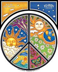 Dan Morris Peace Symbol Sticker
