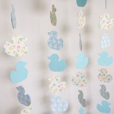 Baby Shower Duck Theme Paper Garland by DistinctClippings on Etsy, $21.00