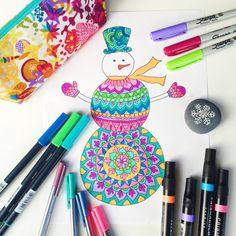 Colorear página muñeco de nieve para colorear por Thrive360Living