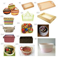 Montessori Baskets and Trays online Amazon, Etsy and Other ideas from How we Montessori
