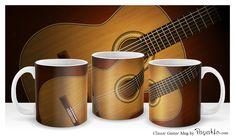 Classic guitar mug / Taza con guitarra clásica española