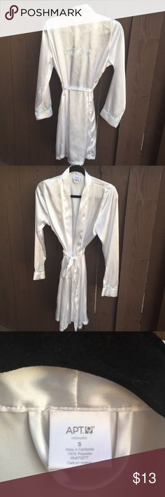 BRIDE Beautiful Satin Robe Good Condition, Perfect for New Bride or Bride to Be Intimates & Sleepwear Robes