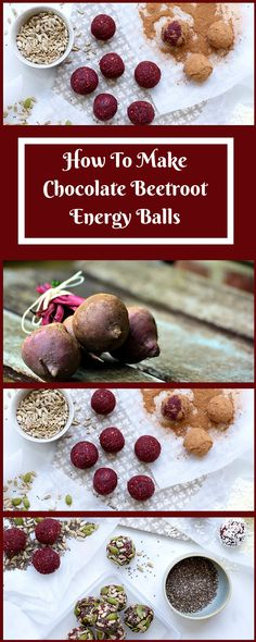 How To Make Chocolate Beetroot Energy Balls